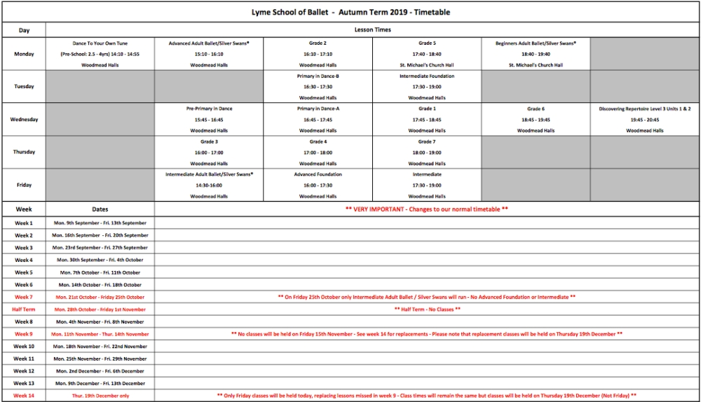 Autumn Term 2019 Timetable JPEG